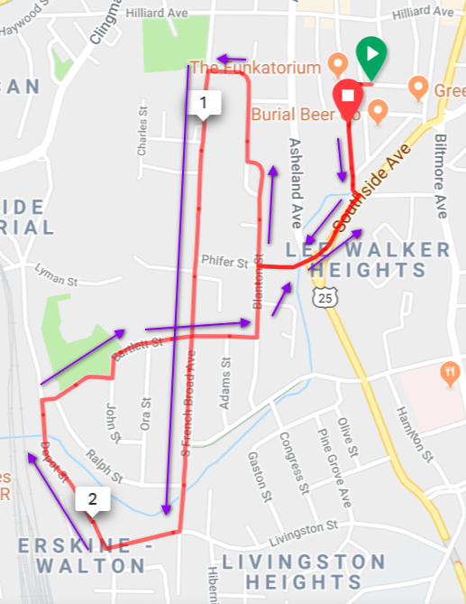 White Zombie 5k Course Map